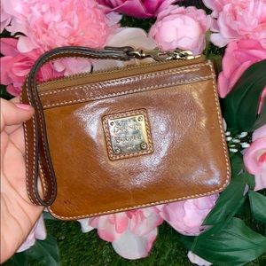 Dooney & Bourke 1975 Leather brown wristlet purse